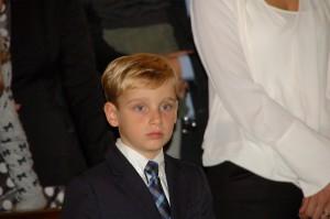 Primo piano Lorenzo, al battesimo di Paolo